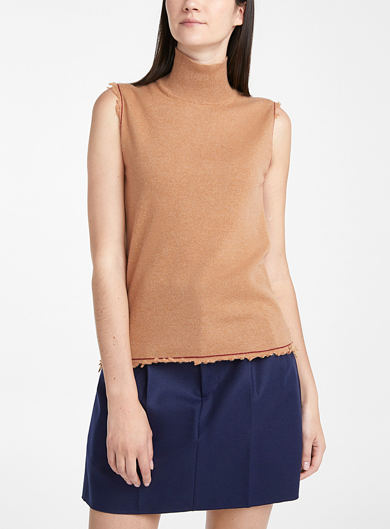 MARNI Fawn Frayed cashmere top for women