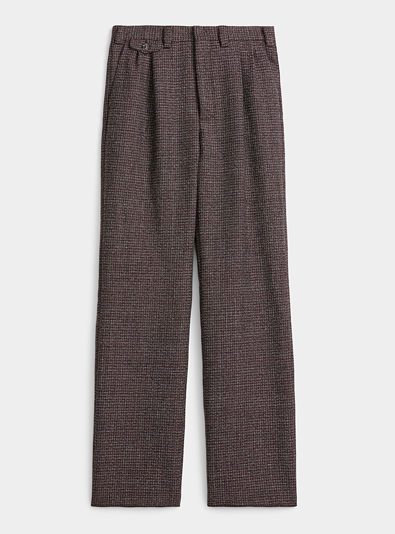 MARNI Ruby Red Virgin wool tweed pant for men