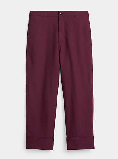 MARNI Ruby Red Tropical wool pant for men