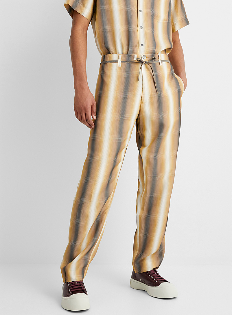 MARNI Patterned Yellow Blended outline pant for men