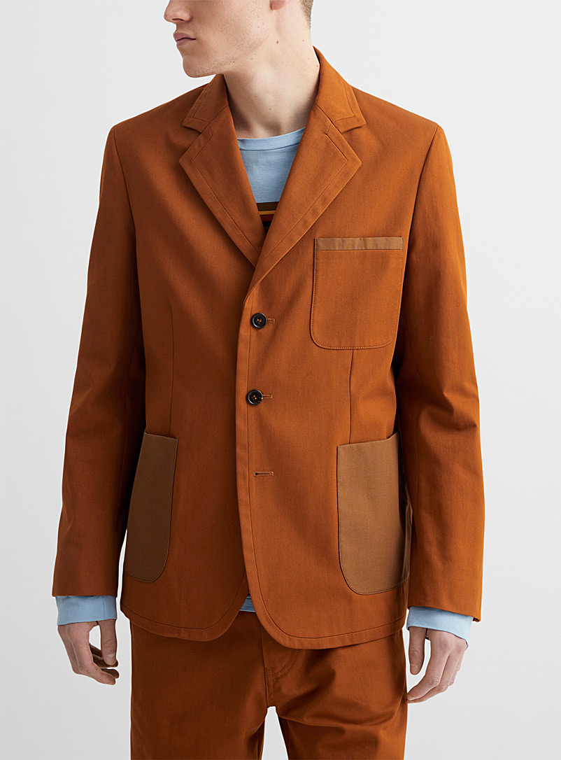 MARNI Copper Accent patch pocket jacket for men
