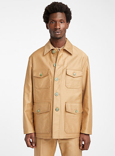 MARNI Cream Beige Structured safari jacket for men