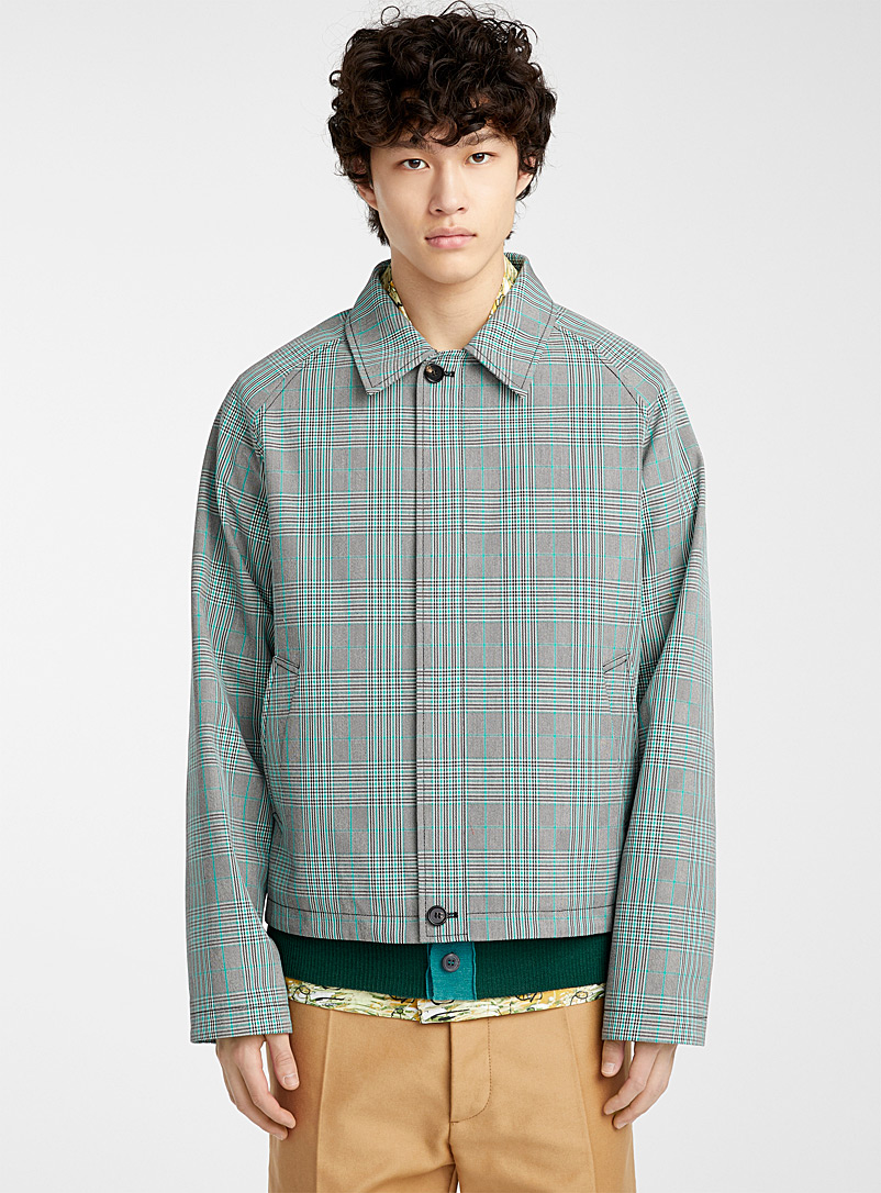 MARNI Grey Prince of Wales jacket for men