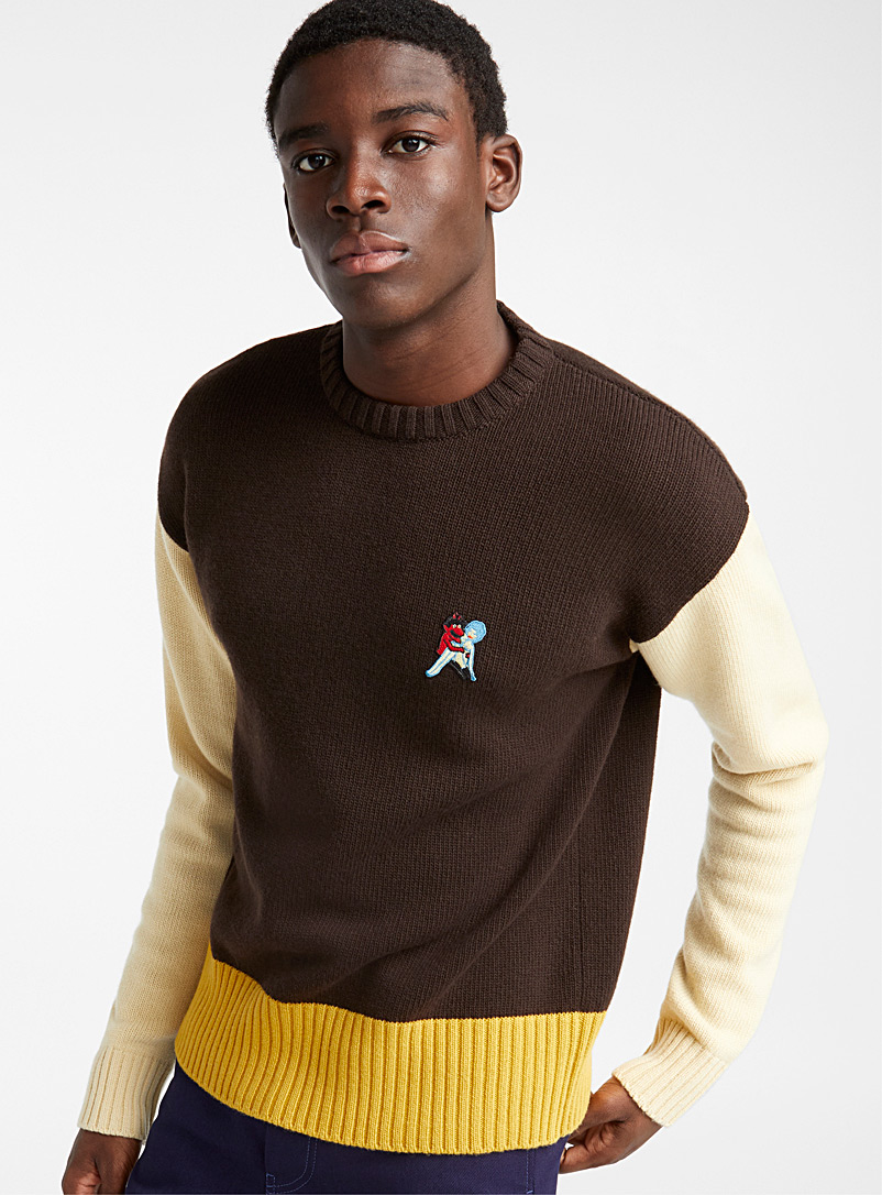 Contrast sweater - Marni - Brown
