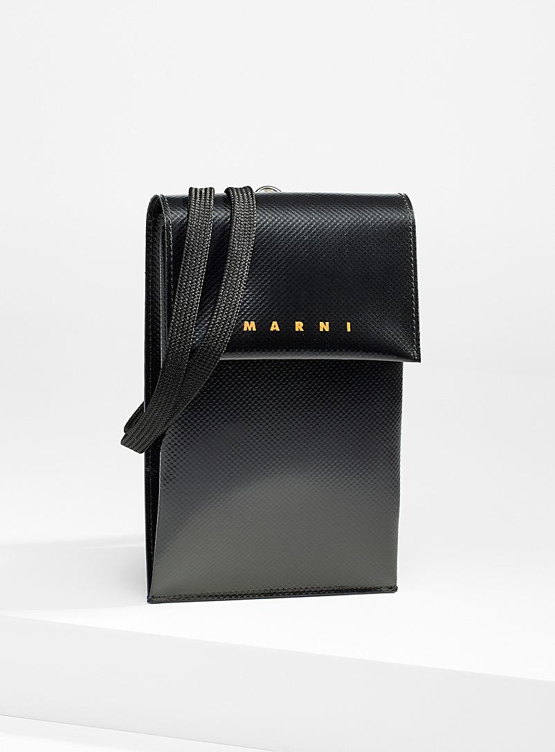 MARNI Black Cell phone shoulder bag for men
