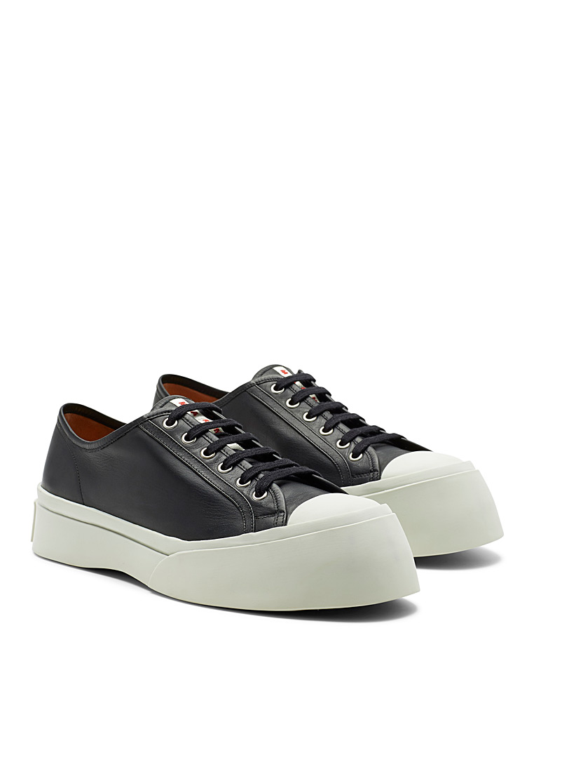 MARNI Black Pablo leather sneakers for men
