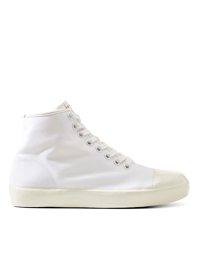 MARNI White Dipped sole high top sneakers  Men for men