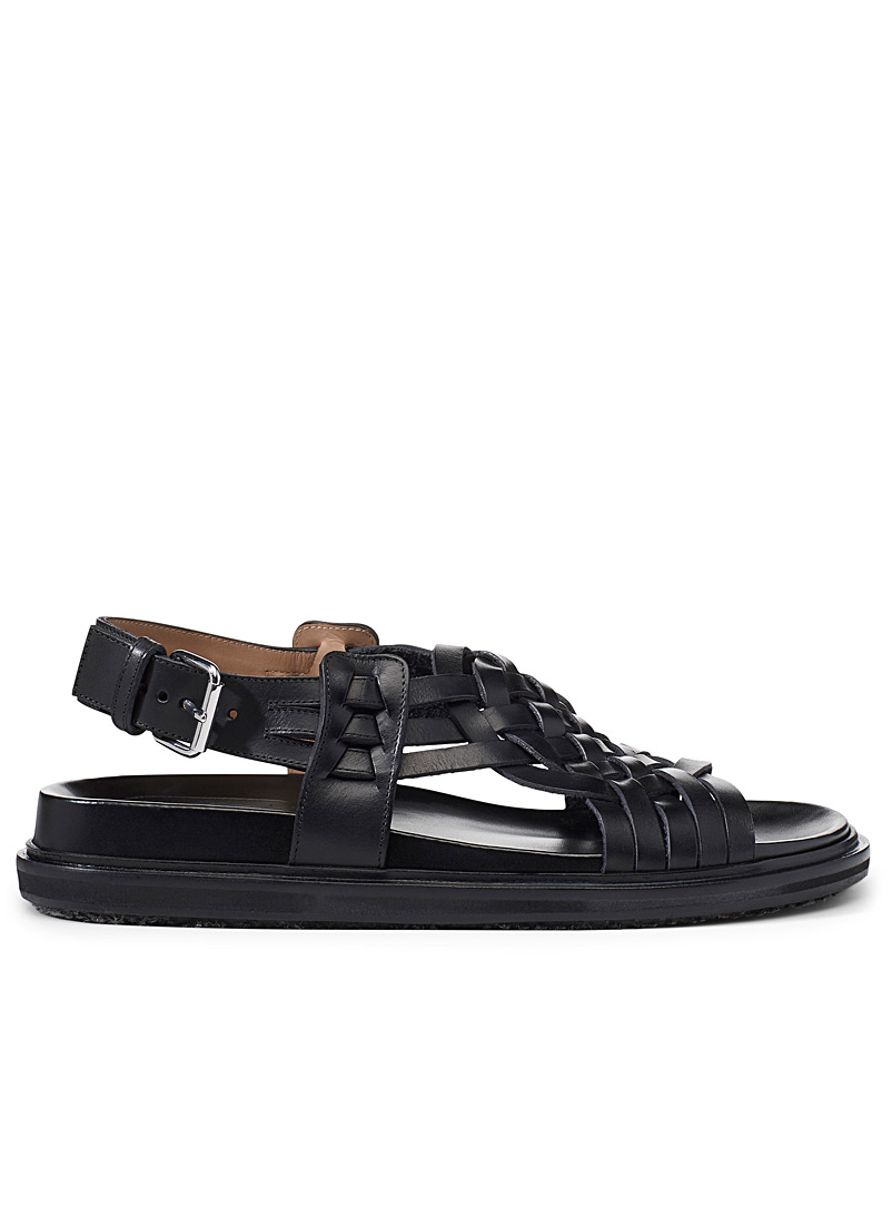 MARNI Black Braid sandals for men