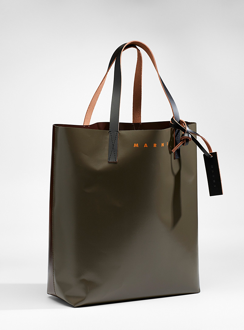 Colour block tote