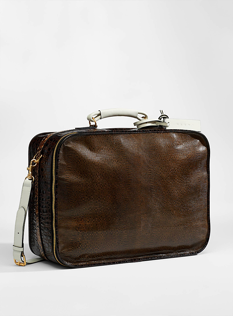 MARNI Honey Reptile travel bag for men