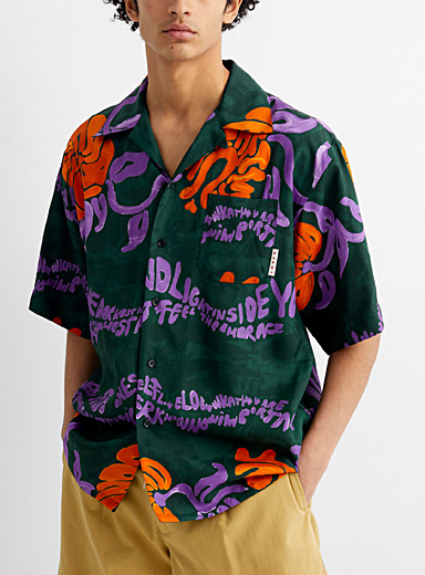 Psychedelic tropical shirt