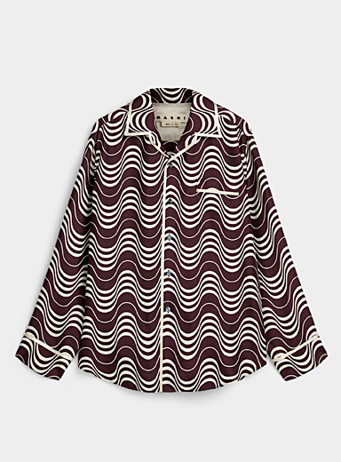 MARNI Ruby Red Pure satin shirt for men