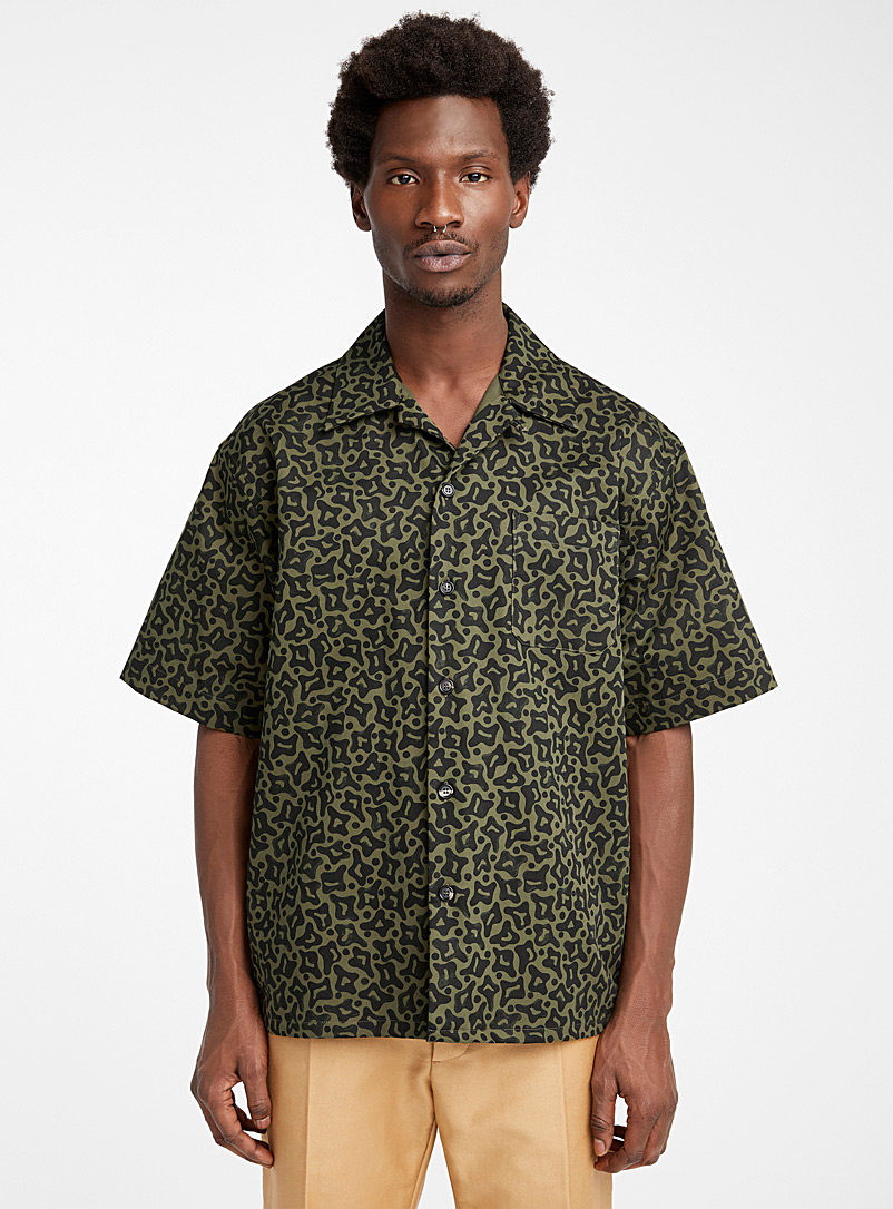 MARNI Patterned Green Camo shirt for men