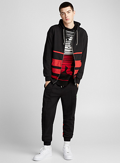 Color Block zip sweatshirt