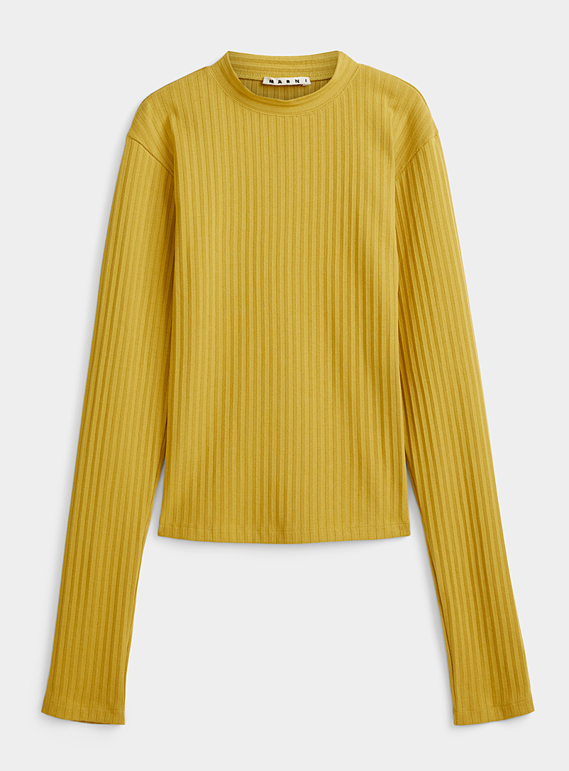 MARNI Green Finely ribbed sweater for men