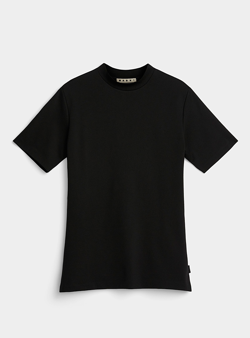 MARNI Black Minimal T-shirt for men