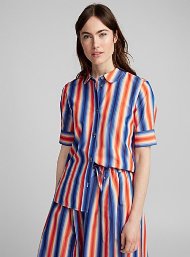 Stripe graded blouse