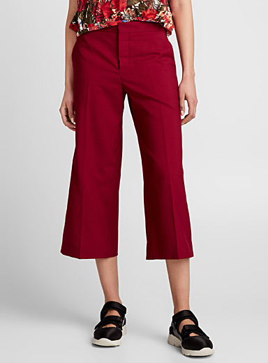 China Red gaucho pant