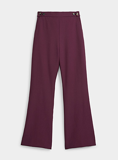 MARNI Ruby Red Burgundy button-waist pant for women