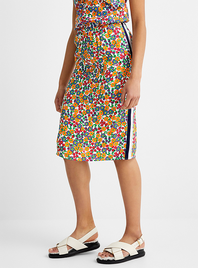 MARNI Patterned Ecru Pop garden midi skirt for women