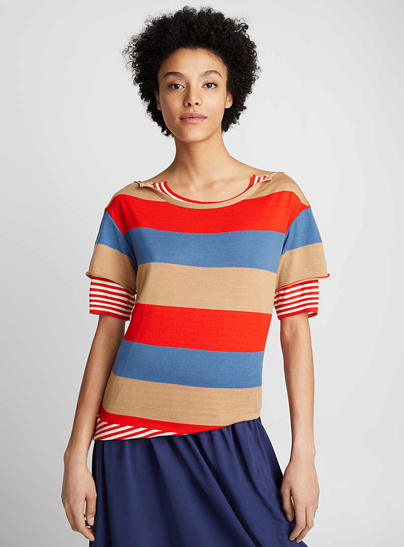 Boat neck T-shirt - Marni - Red