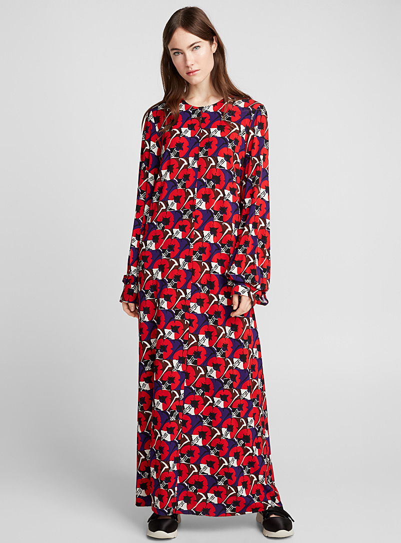 Deco Flower dress - Marni - Red