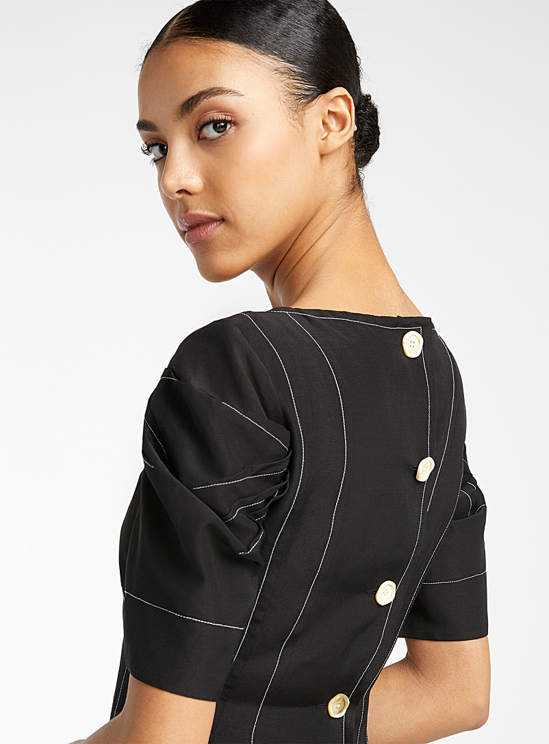 MARNI Black Buttoned-back dress for women