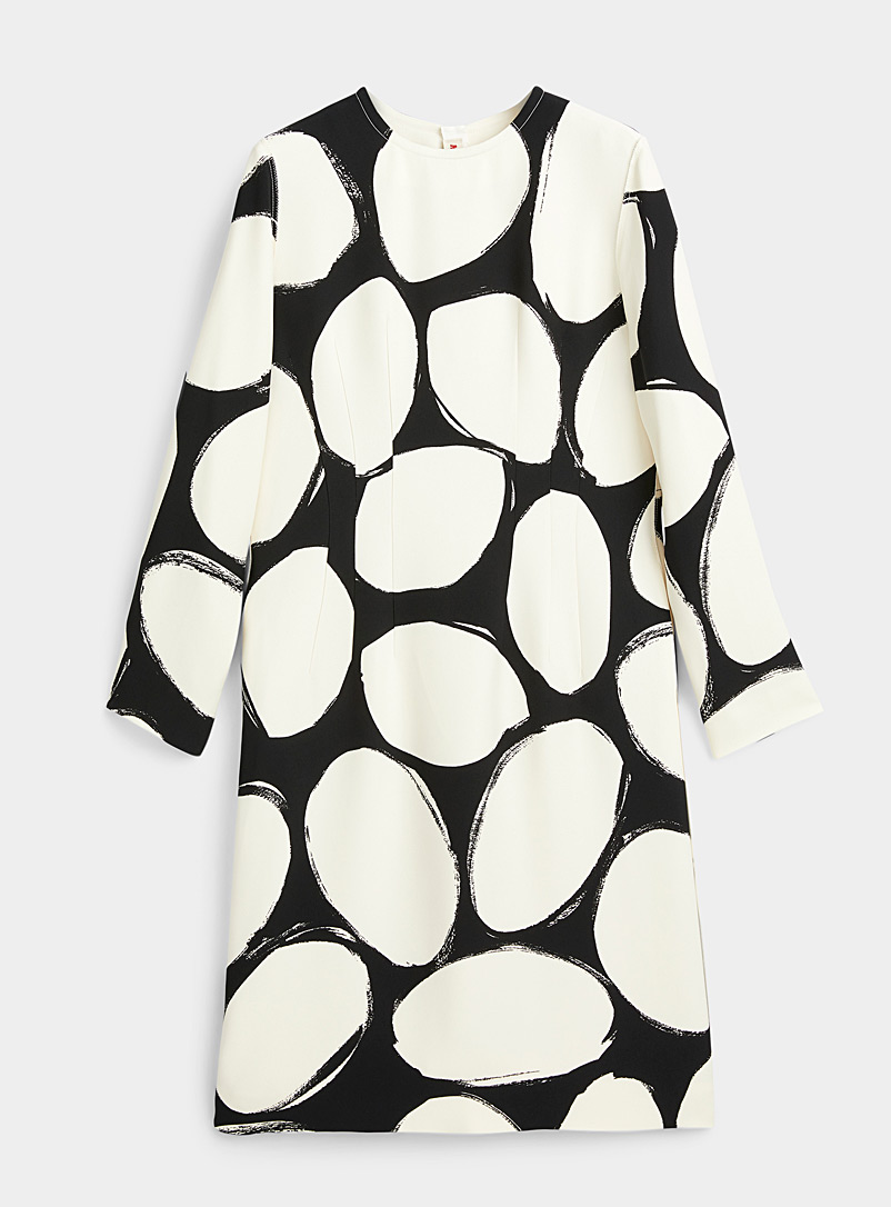 Contrast dot dress