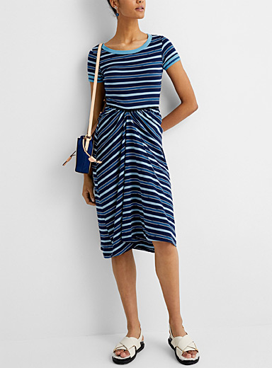 Mediterranean stripe jersey dress