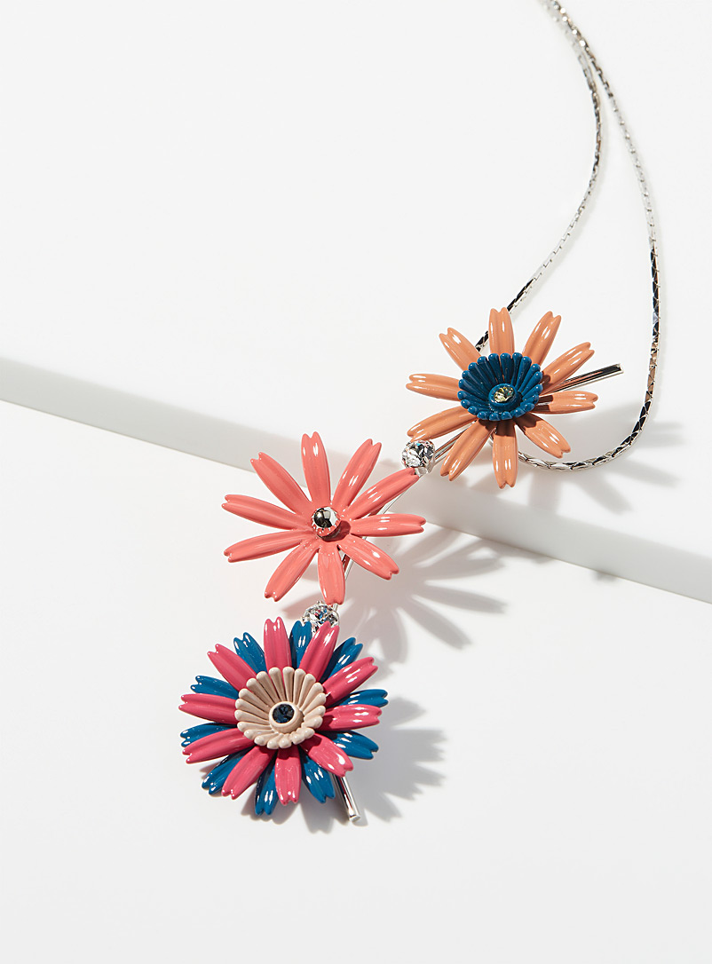 MARNI Red Flora pendant necklace for women