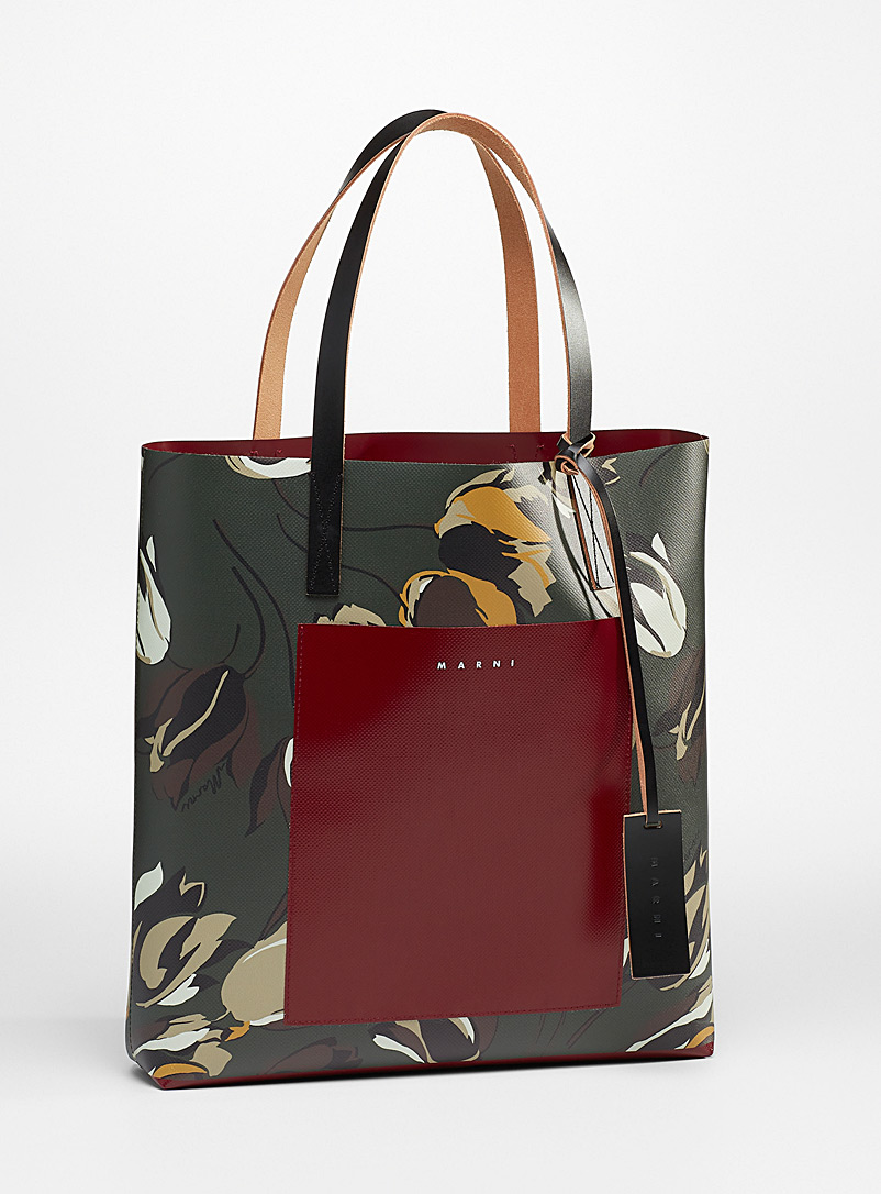 MARNI Patterned Red Windblown tote for women