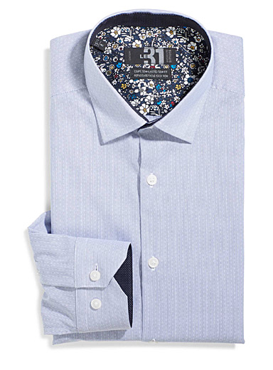 Jacquard pinstripe shirt  Semi-tailored fit