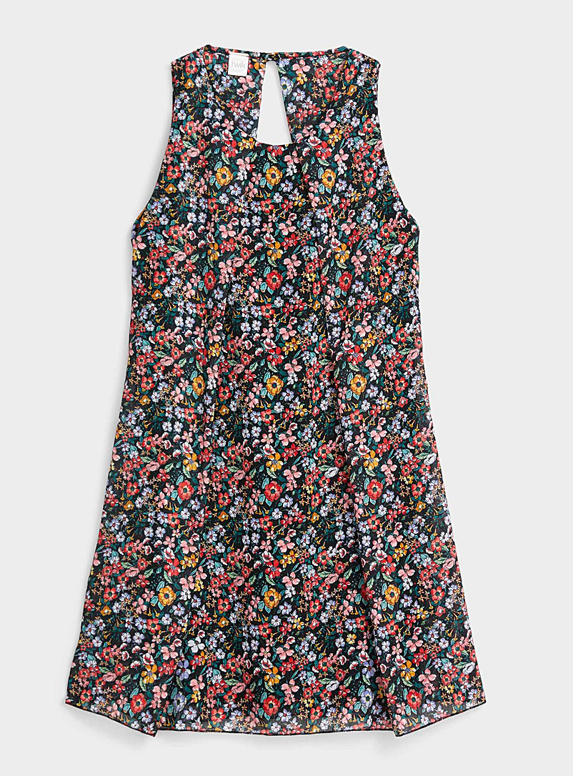 Twik Assorted Printed voile little dress for women