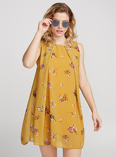 Printed voile little dress
