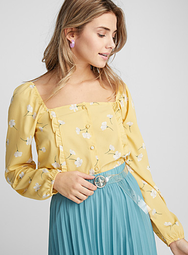 Sunny floral blouse