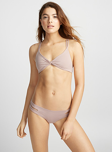 Le haut bralette torsadé rose antique