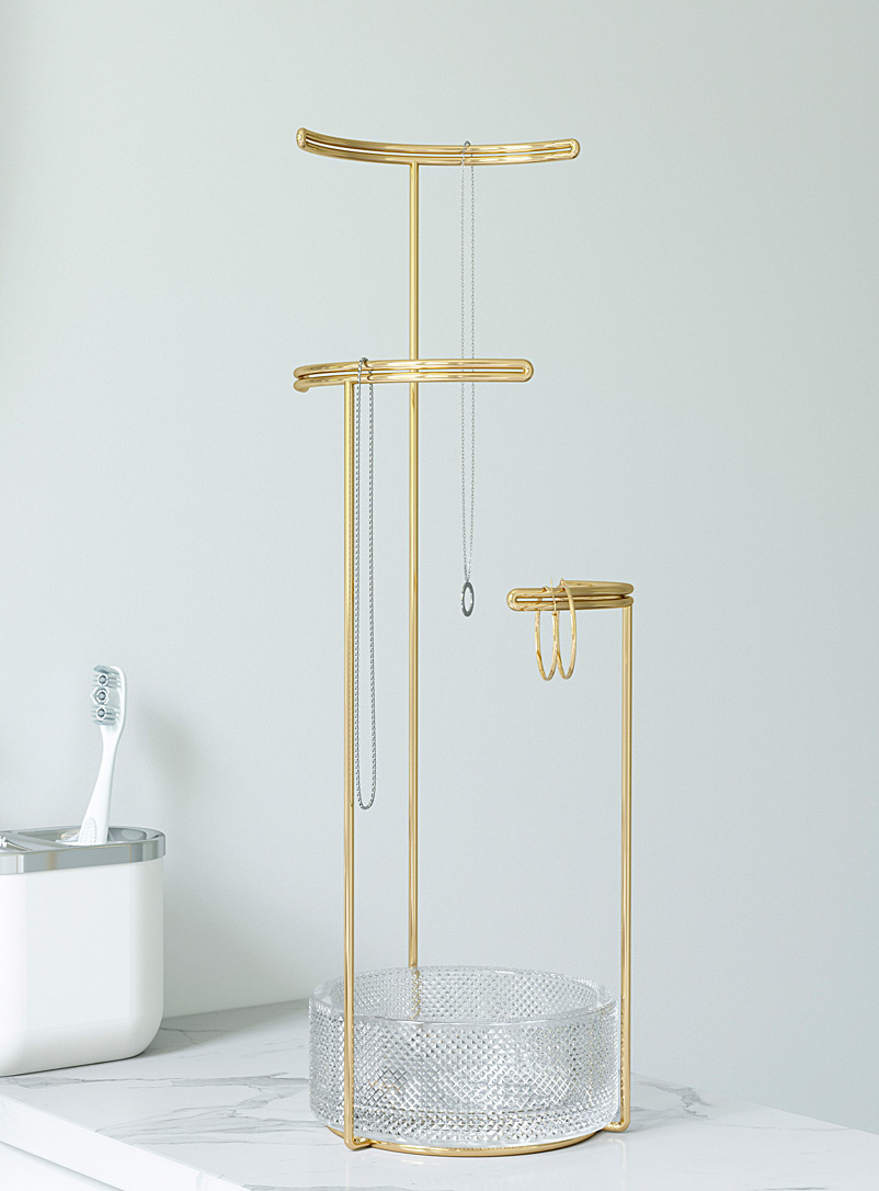 Umbra Assorted Gold and glass jewellery stand