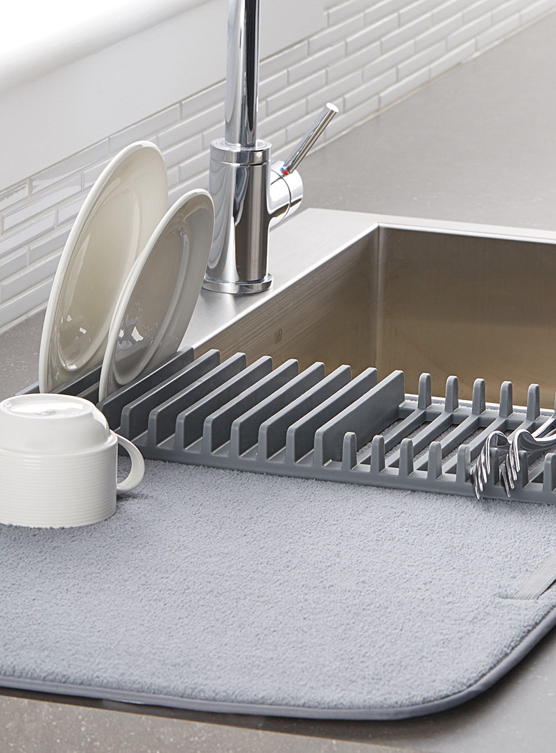 Umbra Grey Dish rack drying mat