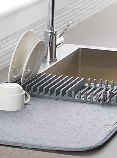 Dish rack drying mat
