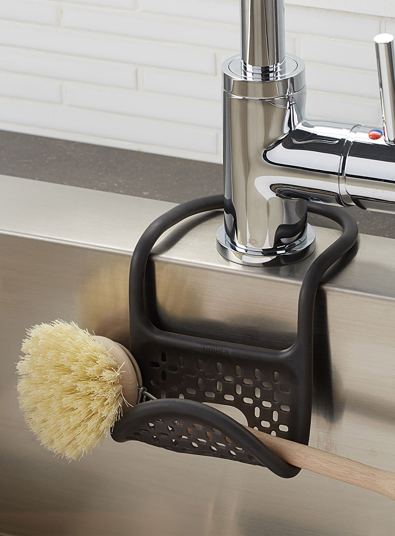 Umbra Black Flexible kitchen sink sponge holder