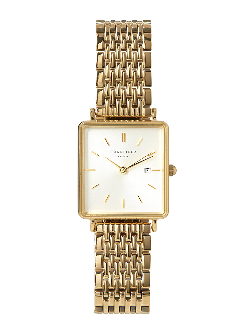 The Boxy gold watch