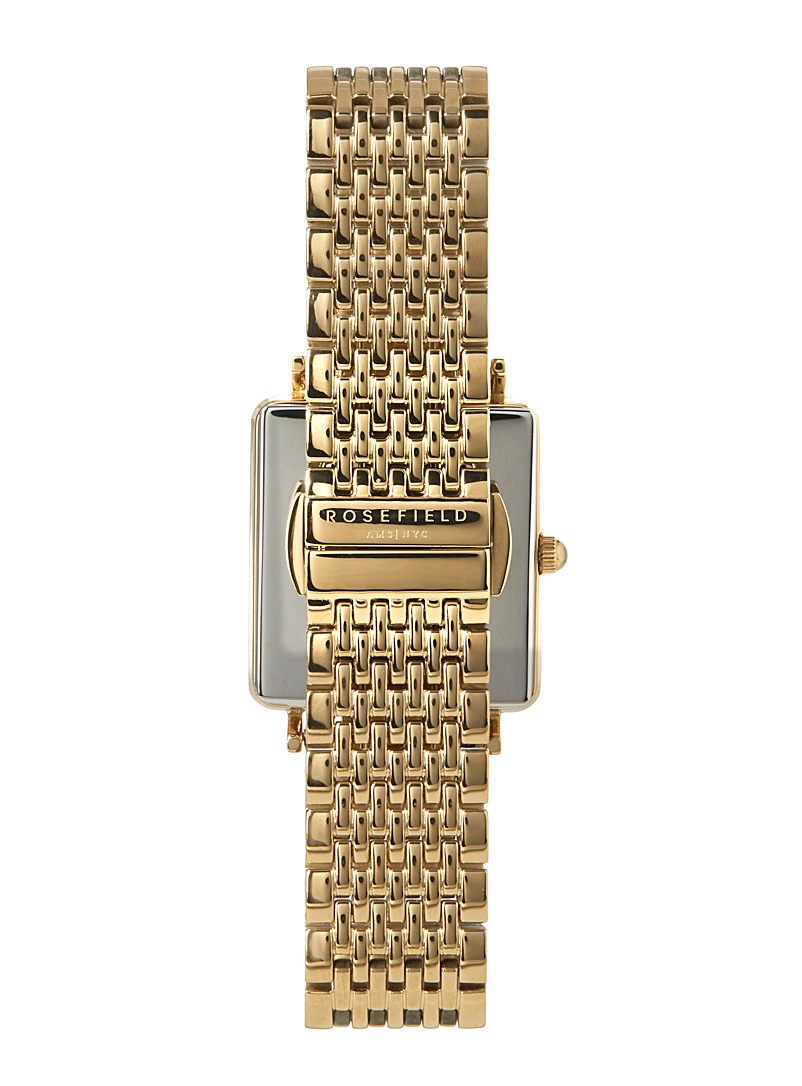 Rosefield Golden Yellow The Boxy gold watch for women
