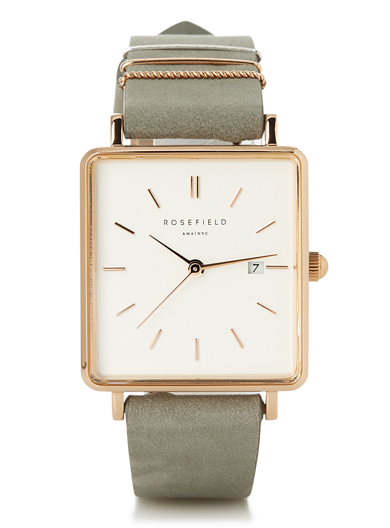 The Boxy rose gold watch - Watches - Dark Grey