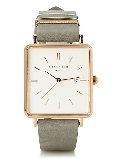 The Boxy rose gold watch
