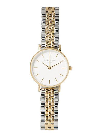 Edith two-tone watch