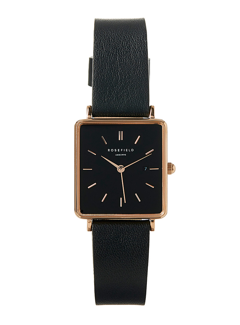 Bracelet and rose gold watch - Watches - Black