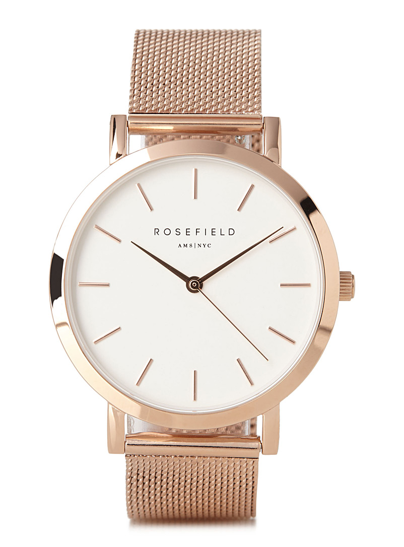 Rosefield Pink Mercer watch for women