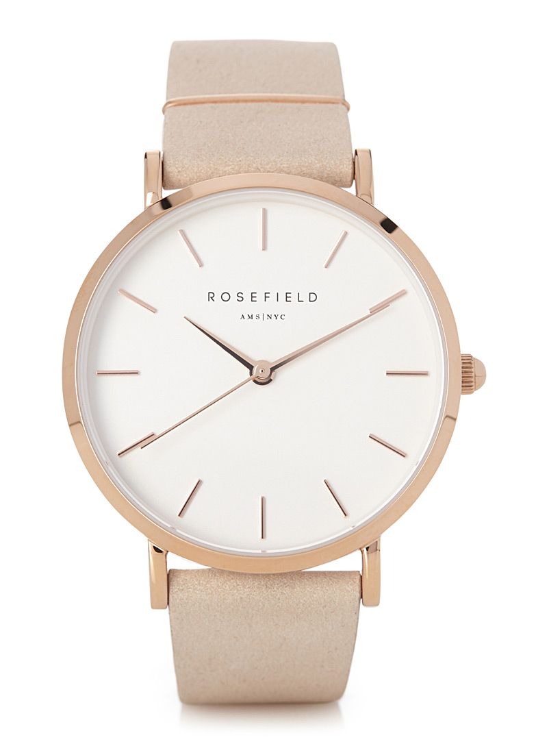 Rosefield Pink West Village watch for women