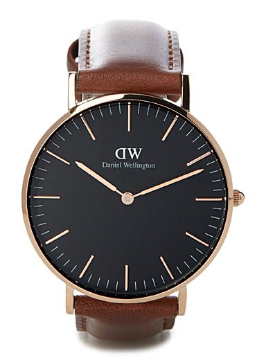 Classic Black Bristol watch