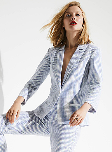 Seersucker stripe jacket